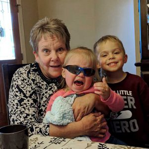 a photo of Rhonda Pruitt with her grandkids